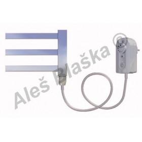 AV.ER pravý Elektrický koupelnový radiátor rovný metalická stříbrná (žebřík)
