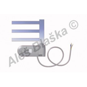 AV.ERK pravý Elektrický koupelnový radiátor rovný metalická stříbrná (žebřík)