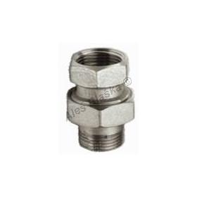 Niklované mosazné radiátorové šroubení přímé (k radiátoru - topenářské)(holendr)