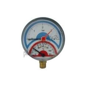 Termomanometr se spodním napojením - teploměr s manometrem