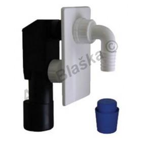 EPPP450 Sifon pračkový podomítkový bílý - odpad k pračce myčce