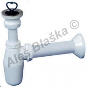 Sifon nádobkový s výpustí a zátkou - odpad k umyvadlu/dřezu