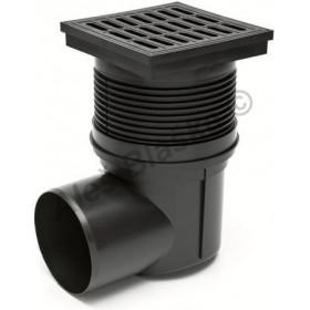 Kanalizační vpusť boční DN110 , 150x150mm, se suchou klapkou