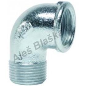 Koleno 90° MF pozinkované (vnitřní a vnější závit) GEBO Platinum - POZINK