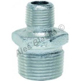 Vsuvka redukovaná pozinkovaná (vnější-vnější závit) GEBO Platinum - POZINK (nipl)
