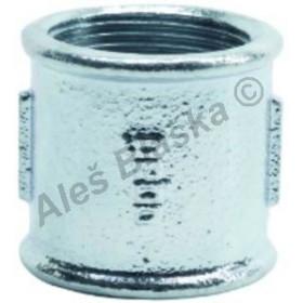 Nátrubek pozinkovaný (vnitřní závity) GEBO Platinum - POZINK (mufna,hrdlo)