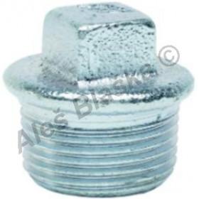 Zátka s obrubou pozinkovaná (vnější závit) GEBO Platinum - POZINK (záslepka)