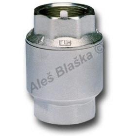 Mosazná niklovaná zpětná klapka na páru (zpětný ventil voda)