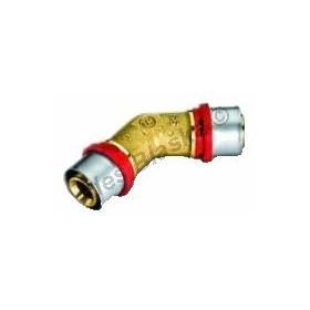 Lisovací koleno 45° oboustranné, PRESS (pro PEX-AL, plastohliníkové trubky)