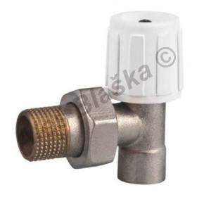 Radiátorový ventil rohový pájecí (navařovací) - pro měkké pájení (kohout k radiátoru)