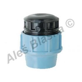 PE (PP-S) spojka zátka (víčko) na polyetylénové trubky (polyš) (svěrná plastová)