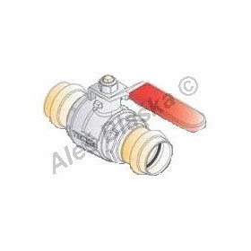 Kulový kohout (ventil) lisovací s pákou s koncovkami pro lisování, PRESS