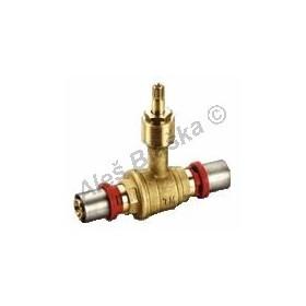 Lisovací vestavný kohout, ventil, PRESS pro PEX-AL, plastohliníkové trubky
