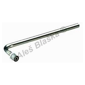 Lisovací koncové koleno pro radiátory, PRESS (pro PEX-AL, plastohliníkové trubky)