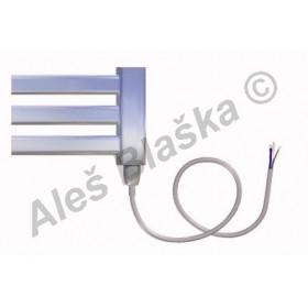 CM.E pravý Elektrický koupelnový radiátor (žebřík) prohnutý CHROM