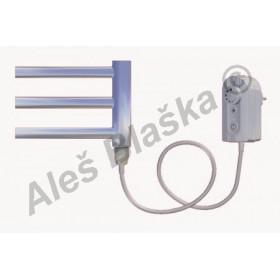 SNC.ER pravý Elektrický koupelnový radiátor (žebřík) rovný CHROM