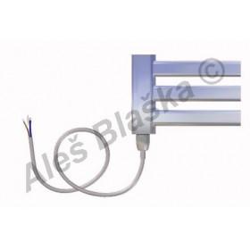 CM.E levý Elektrický koupelnový radiátor (žebřík) prohnutý CHROM