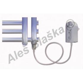KR.ER pravý Elektrický koupelnový radiátor (žebřík) rovný metalická stříbrná