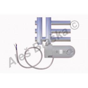 KR.ERK pravý Elektrický koupelnový radiátor (žebřík) rovný metalická stříbrná