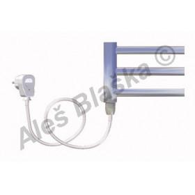 SNC.ES levý Elektrický koupelnový radiátor (žebřík) rovný CHROM