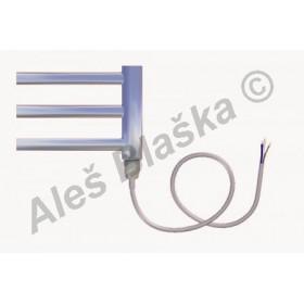 SNC.E pravý Elektrický koupelnový radiátor (žebřík) rovný CHROM