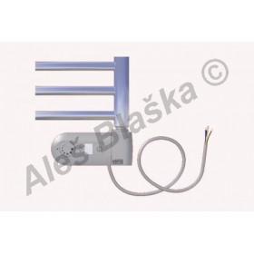 SNC.ERK pravý Elektrický koupelnový radiátor (žebřík) rovný CHROM