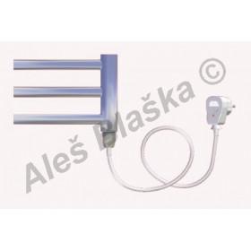 SNC.ES pravý Elektrický koupelnový radiátor (žebřík) rovný CHROM