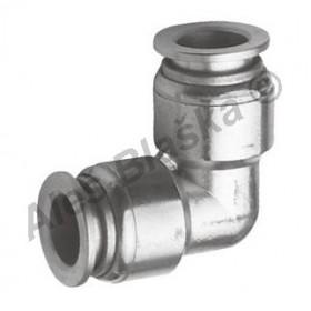 Pneumatická nástrčná spojka MPV úhlová (kolínko) kovová na vzduch (rychlospojka)