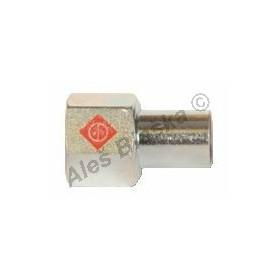 uhlík.ocel přechodka s vnitřním závitem MxFil.F , lisovací, PRESS, C-STEEL