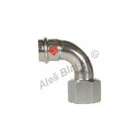 uhlík.ocel koleno 90°přechodové s vnitřním závitem FxFil.F , lisovací, PRESS, C-STEEL