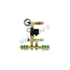 Termostatická směšovací jednotka pro kombinované vytápění
