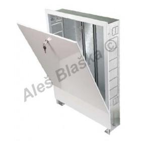 Kovová vestavná (podomítková) skříň pro rozdělovače topných systémů