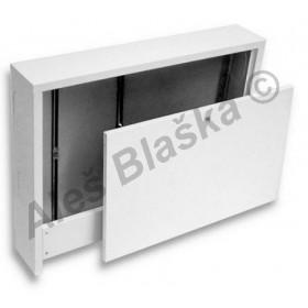 Kovová venkovní nástěnná (na omítku) skříň pro rozdělovač topných systémů (k rozdělovači)