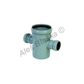 HTDA dvojodbočka 87° (HT kanalizační odpadní systém)