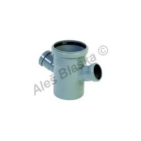 HTDA dvojodbočka 45° (HT kanalizační odpadní systém)