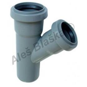 HTEA odbočka redukovaná 45° (HT kanalizační odpadní systém)