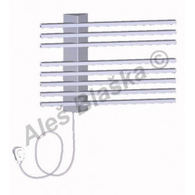 Elektrický koupelnový sušák ručníků LINER.ES - metalicky stříbrný
