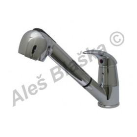 STENO ST 3050 vodovodní baterie páková stojánková dřezová s výsuvnou sprchou (vytahovací sprškou)