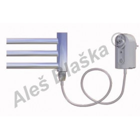 CB.ER pravý Elektrický koupelnový radiátor prohnutý CHROM - žebřík