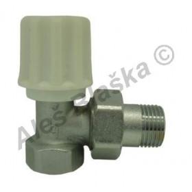 Radiátorový ventil rohový jednoregulační (kohout k radiátoru)