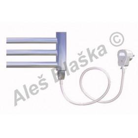 CB.ES pravý Elektrický koupelnový radiátor prohnutý CHROM - žebřík