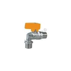 Kulový kohout (ventil) na plyn rohový s motýlem MM (plynový)