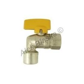 Kulový kohout (ventil) na plyn rohový s motýlem FF (plynový)