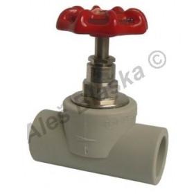 PPR ventil uzavírací s kovovým kolečkem tvarovka plastová navařovací