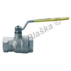 Kulový kohout (ventil) nerezový na plyn s pákou FF (plynový)