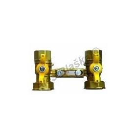 Souprava (šroubení) k plynoměru s kulovými kohouty