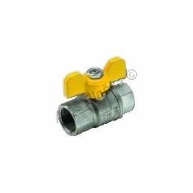 Kulový kohout (ventil) URAGANO na plyn s motýlem FF plnoprůtokový (plynový)