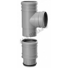 Vsuvná HT odbočka 110/110 pro dodatečnou instalaci (HT kanalizační odpadní systém)