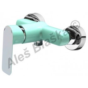 RIO 4145 zelená/chrom páková nástěnná sprchová vodovodní baterie