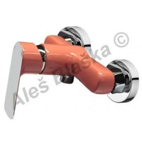 RIO 4145 oranžová/chrom páková nástěnná sprchová vodovodní baterie